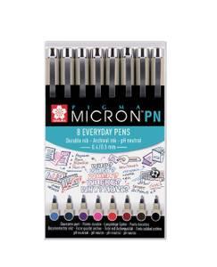 Bilde av Sakura Micron Everyday Pens 8 stk / farger