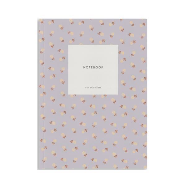 Notatbok, Flower lavender Dots A5