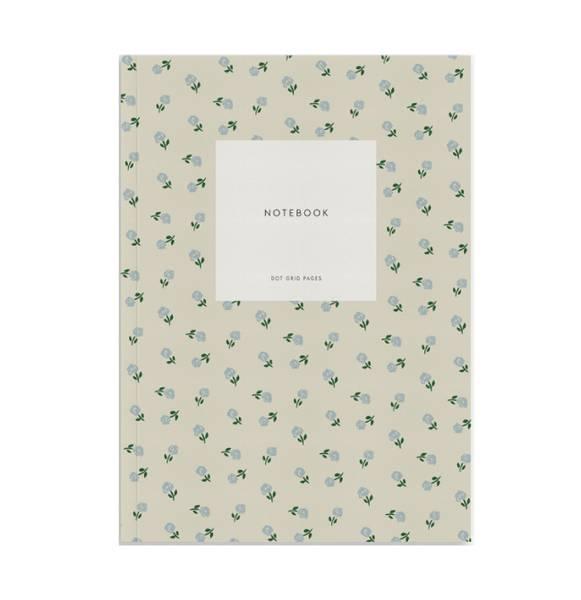 Notatbok, Creamy Grey Dots A5