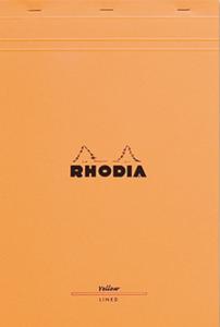 Bilde av Rhodia Yellow Pad Linjer, Stiftet A4+