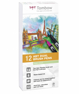 Bilde av Tombow 12 stk Brush pens, Pastel