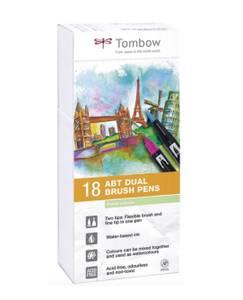 Bilde av Tombow 18 stk  Brush Pens, Pastell