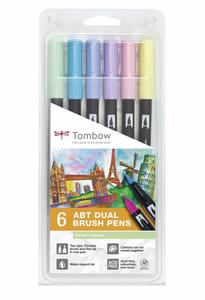 Bilde av Tombow 6 stk Brush pens, Pastel