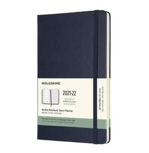 Bilde av Moleskine 18 mnd Weekly Notebook 2021/22, Blue L