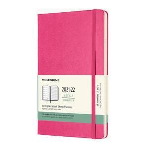 Bilde av Moleskine 18 mnd Weekly Notebook 2021/22, Pink L