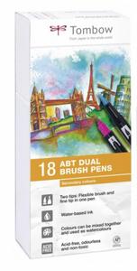 Bilde av Tombow 18 stk Brush Pens, Primary