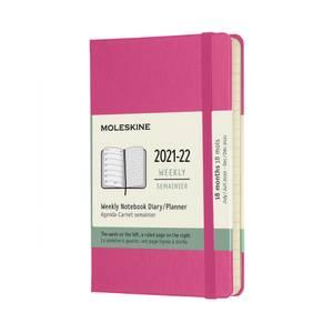 Bilde av Moleskine 18 mnd Weekly Notebook 2021/22, Pink P