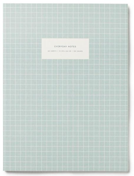 Notatbok, Light Blue, linjert A4