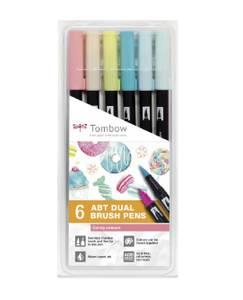Bilde av Tombow 6 stk Dual Brush Pens, Candy