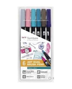 Bilde av Tombow 6 stk Dual Brush Pens, Vintage