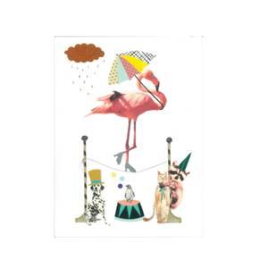 Bilde av Tex og Jack kort A5, Dancing Flamingo