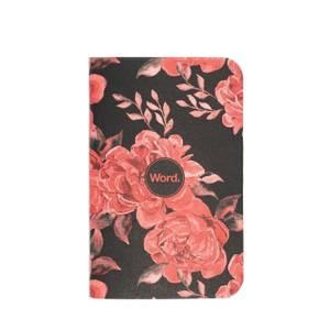 Bilde av Word Notebooks BLACK FLORAL, 3 pack Linjer P