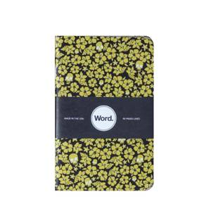 Bilde av Word Notebooks YELLOW FLORAL, 3 pack Linjer P