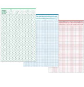 Bilde av Grids & Guides Notepad 3 stk ulike, A5
