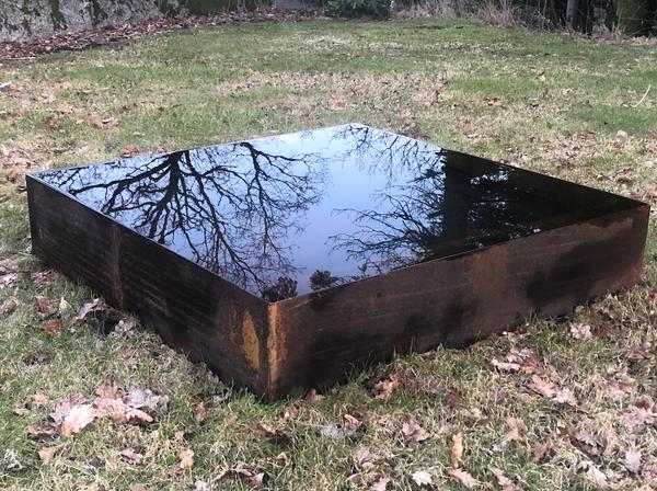 Bilde av Vannspeil firkantet 100 cm, vanndybde 20cm