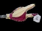 Rosa peispuster i furu og ekte skinn