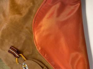 Bilde av Grillforkle i brunt skinn
