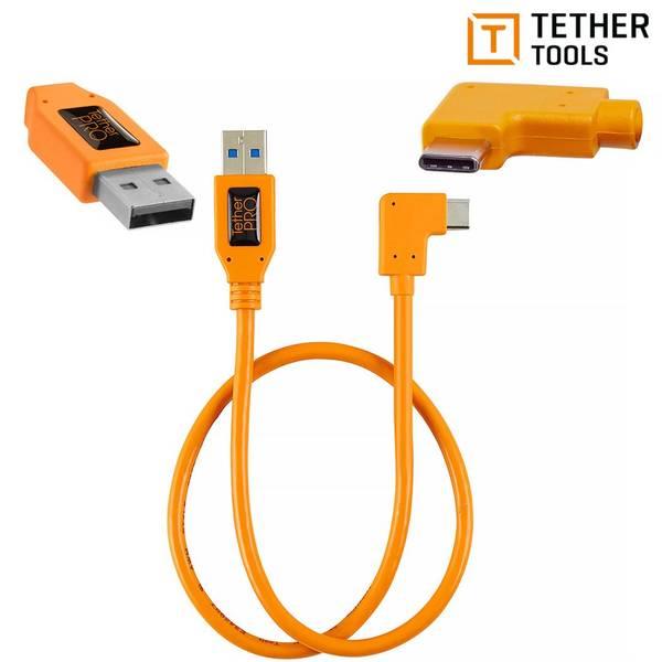 Bilde av TETHERPRO USB 3.0 TILL USB-C HØYREVINKLAD ADAPTER