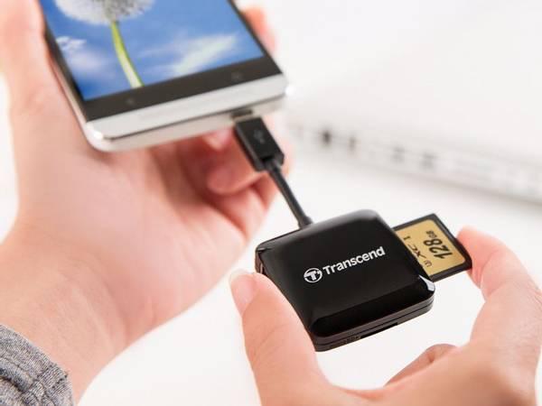 Bilde av TRANSCEND Smartreader RDP9 - OTG cardreader