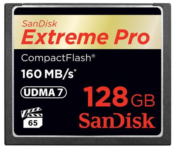 Bilde av SanDisk Extreme Pro Compact Flash 160MB/s 128GB