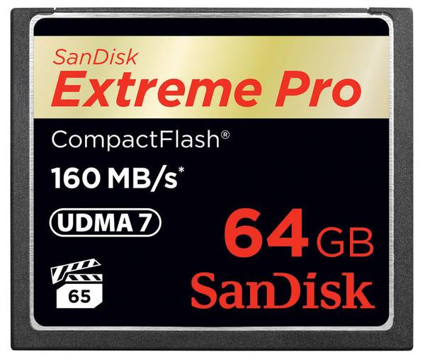 Bilde av SanDisk Extreme Pro Compact Flash 160MB/s 64GB