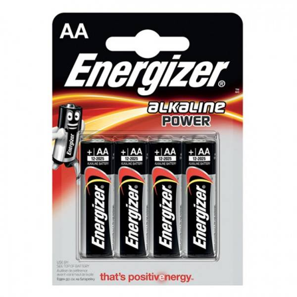Bilde av Energizer Alkaline Power 4 Stk Black AA/LR6/E91