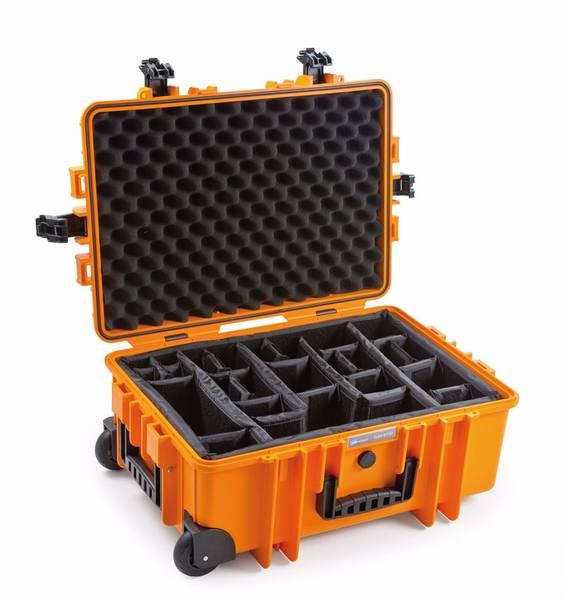 Bilde av B&W OUTDOOR CASES Type 6700 Oransje RPD (Oppdelt)