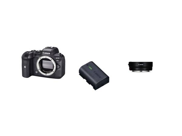 Bilde av Canon EOS R6 + LP-E6NH batteri og EF-R adapter