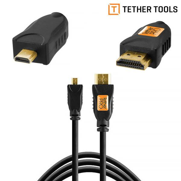 Bilde av Tether Tools TetherPro Micro HDMI D to HDMI A 3m