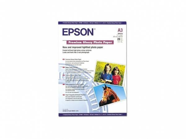 Bilde av Epson A3 Papir Premium Glossy 20ark Papir til