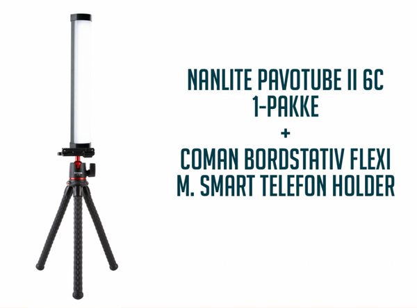 Bilde av Nanlite PavoTube II 6C + COMAN BORDSTATIV FLEXI