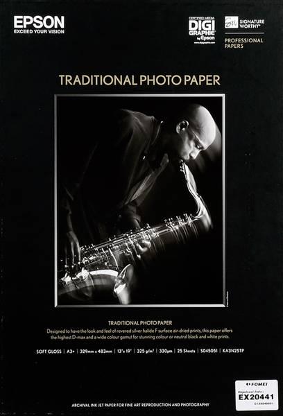 Bilde av Epson A3+ Traditional Photo Paper 330g, 25 ark