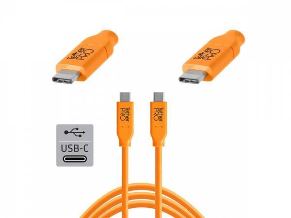 Bilde av TETHERPRO USB-C TIL USB-C 0.9M ORANGE