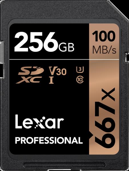 Bilde av LEXAR Pro 667X SDXC UHS-I U3 (V30) R100/W90 256GB