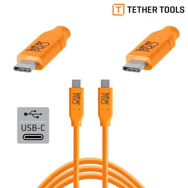 Bilde av TETHERPRO USB-C TIL USB-C 4.6M ORANGE