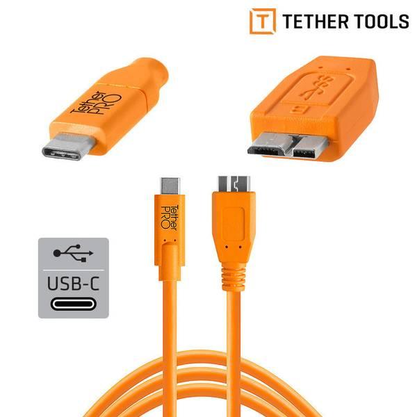 Bilde av TETHERPRO USB-C TIL 3.0 MICRO-B 4.6M ORANGE