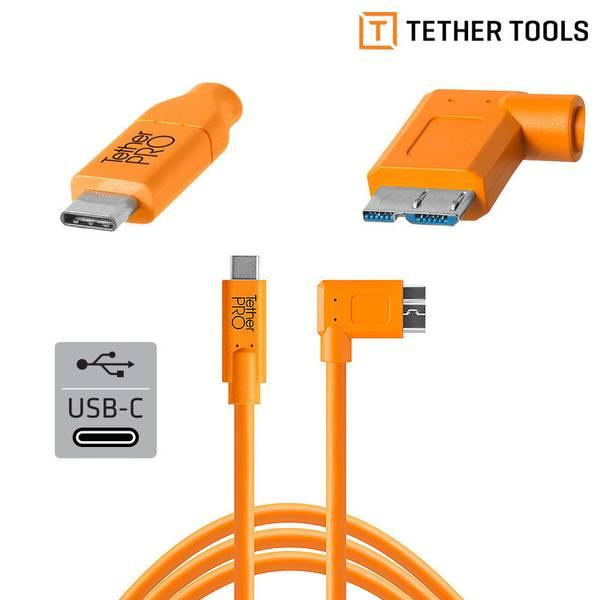 Bilde av TETHERPRO USB-C TIL 3.0 MICRO-B VINKLAD (HÖGER)