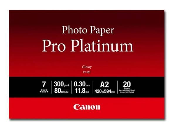 Bilde av CANON PT-101 A2 photo paper platinum 20 sheets