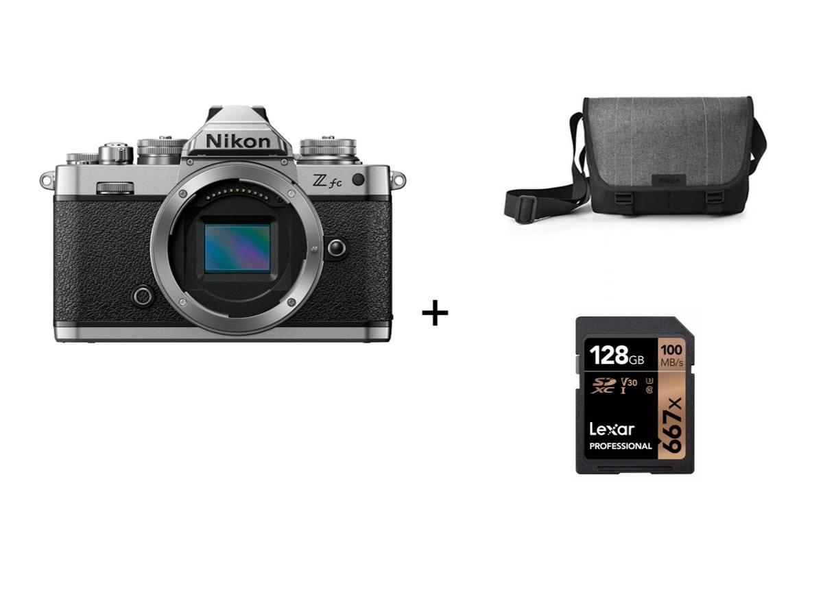 Nikon Z fc Hus + veske + minnekort