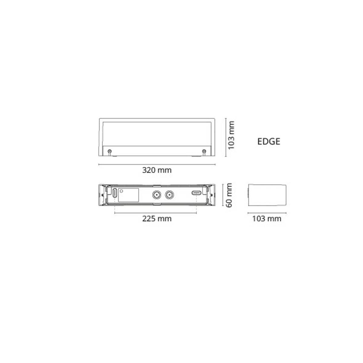 Edge direct matt-hvit 10w led 2700k