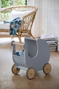 Bilde av SEBRA - Dukkevogn I Tre Elephant Grey