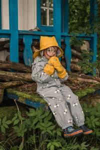 Bilde av KATTNAKKEN - Regnvotter Barn Oker