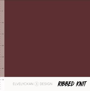 Bilde av Elvelyckan - Knitted Ribb, Wine