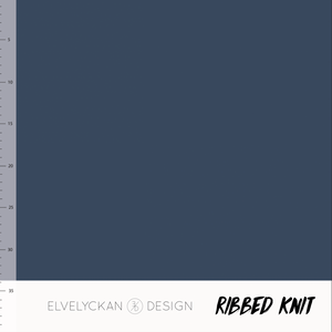 Bilde av Elvelyckan - Knitted Ribb, Dark Blue