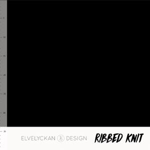 Bilde av Elvelyckan - Knitted Ribb, Black