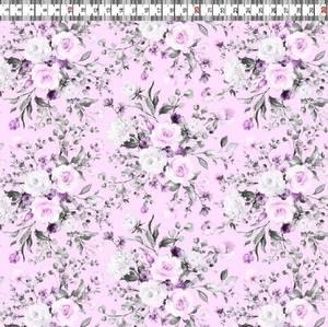 Bilde av Poplin Cotton - Vårblomster Rosa