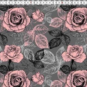Bilde av Isoli Print Organic - Pink Roses Grey