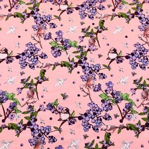 Bilde av Jersey Organic - Little Flowerbird Pink