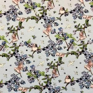 Bilde av Jersey Organic - Little Flowerbird Blue
