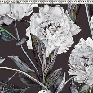 Bilde av Jersey - Big Flowers on black